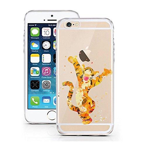 Blitz® AQUARELLE motifs housse de protection transparent TPE caricature bande iPhone Peter Pan Aquarelle M6 iPhone X Tigrou aquarelle M10