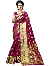 Indian Fashionista Women's Banarasi Silk Weaving Saree With Blouse Piece (Top Dyed)