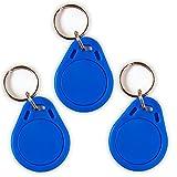 3 NFC Tag Schlüsselanhänger NTAG215 | 504 Byte | blau