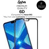 Lustren Premium Huawei Honor 8X Tempered Glass Original 6D (Better Than 5D) Screen Guard With 9H Gorilla Full Screen Scratch And Temper Protection Black - Pack Of 2 [Introductory Offer]
