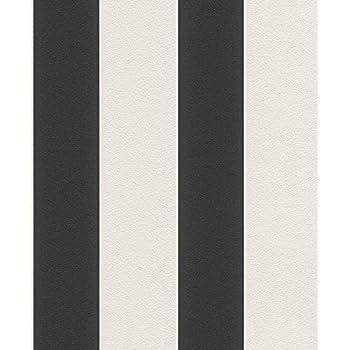 Vliestapete Streifen Gestreift weiß schwarz Tapete Rasch