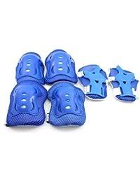 HuntGold genouillères pour les enfants de planche à roulettes de patinage(blue)