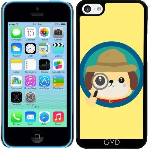 Hülle für Iphone 5c - Hund Detektiv Mit Lupe by ilovecotton