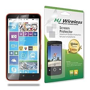 Best Nokia Lumia 1320 Screen Protector. High Definition Clear Plastic Film Compatible Premium PET Invisible Phone Screen Protection HD Clear Retail Packaging