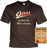 T-Shirt - Opas machen die Welt schöner - Lustiges Sprüche Shirt als Geschenk für den Großvater mit Humor
