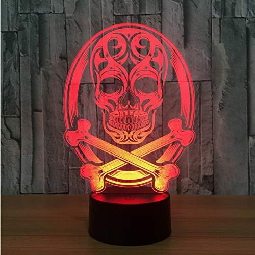 Nachtlicht Schädel 3D Led Lampe Atmosphäre Nachtlichter Led Lampe Touch Sensor Halloween Theme Party Wohnzimmer Schlafzimmer Tisch Schreibtisch Dekor