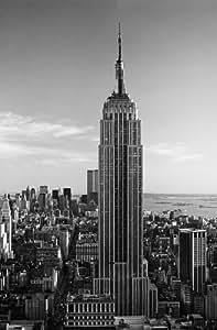Poster XXL Giant Art® Empire State Building photo, photo murale, poster, grand format, 115x175cm, ville, noir et blanc, New York, USA, États-Unis, gratte-ciel, panorama, metropole,