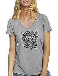 Eagles Of Death Metal BW New Logo T-Shirt camiseta Cuello V para la Mujer