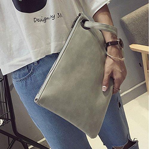 Meliya, Poschette giorno donna, Grey (grigio) - HY-snb-00078-01YA Grey
