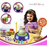 A2b Imaginative Arts Pottery Wheel Game and Learn Educational Toy, Blue