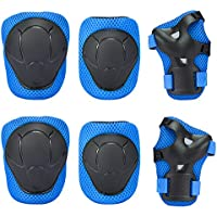 GIM Knee Pad, Kid's Protective Gear Set Knee Elbow Pads Wrist Support for Child Roller/Skating/BMX/Bike/Skateboard