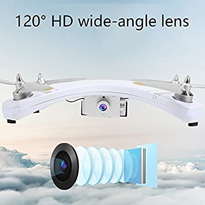 YMXLJJ GPS FPV RC Drone With 720P HD Camera Live Video Brushless Motor One-Button Return Home 5.8Ghz Quadcopter Equipped 4G Memory Card Multi-Function Aircraft White