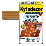 Xyladecor Holzschutz-Lasur 2 in 1 Eiche 2,5 l | Dünnschicht-Lasur - dringt tief ins Holz ein & blättert nicht ab