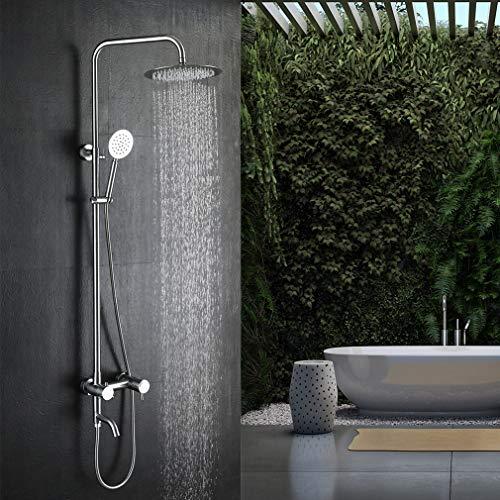 Lonheo colonna doccia con miscelatore termostatico per vasca bagno set doccia in acciaio inox finitura spazzolata