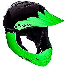AWE® BMX Full Face casco negro verde, tamaño M 54–58cm