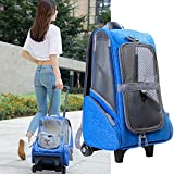 Bulary Pet Car Portable Pet Backpack Multifuncional Desmontable Trolley 4 En 1 Pet Travel Transporter Adecuado para Al Aire Libre