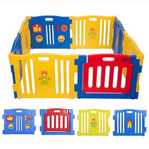 BEBEHUT® Box bimbo Recinto bimbo Barriera protettiva Plastica Box per Bambini