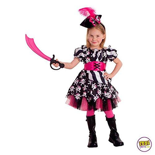 Mottoland Kinder Kostüm Abigail the Pirate Piratin Mädchen Fasching Karneval: Größe: ()