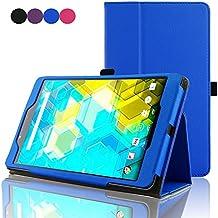 ACdream BQ Edison 3 mini 8 inch Protective Case, Folio Premium PU Leather Cover Case for Bq Edison 3 mini 8 inch tablet, Royal Blue