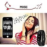 endubro ID101 Fitness Armband – fitness tracker – smart bracelet – Smartwatch für Android Smartphone und iPhone, Schrittzähler, Push-Message und Anrufer – ID Benachrichtigung, Photo-Fernauslöser, Handy-Suchfunktion, Steuerung der Musikwiedergabe - 4
