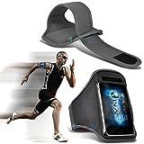 (Grey) BQ Aquaris M4 5 Hülle Abdeckung Cover Case schutzhülle Tasche Fitness Laufen Jogging Radfahren Gymnastik-Armbinde-Halter-Kasten-Abdeckung ONX3®