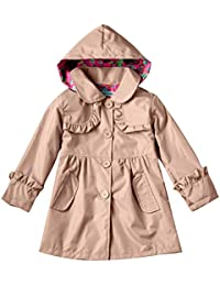 Highdas Girls 'Outwear mignon Veste à capuchon Robe manteau coupe-vent 100-140