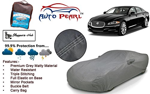 Auto Pearl - Tripple Stich Premium Grey Matty Car Body Cover with Mirror Pockets, Buckle Belt & Carry Bag For - Jaguar XF  available at amazon for Rs.1603
