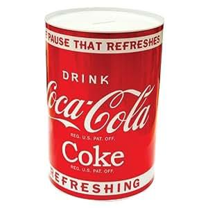 Coca Cola Tirelire géante caisses d'épargne en étain
