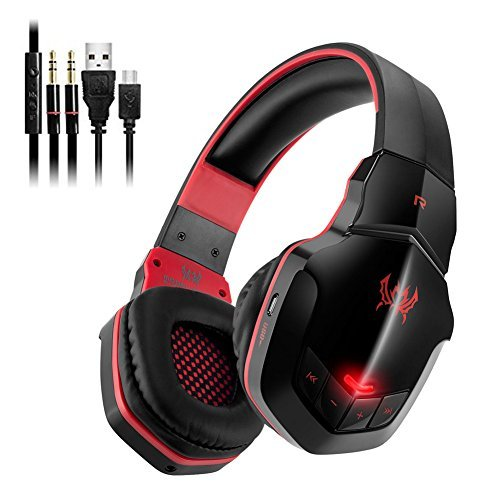 Combaterwing KOTION EACH V4.1 B3506 cuffia auricolare Bluetooth Headphones Stereo Wireless Gaming Headset pieghevole con il Mic per PS4 PC Smartphone Computer
