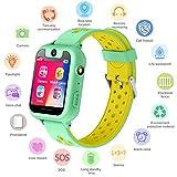 Kids GPS Tracker Smartwatch per ragazzi ragazze - Smart orologio da polso con posizione GPS SOS Alarm Clock Digital Watch Camera Torcia Giochi per bambini Compatibile con iOS / Android (S6verde)
