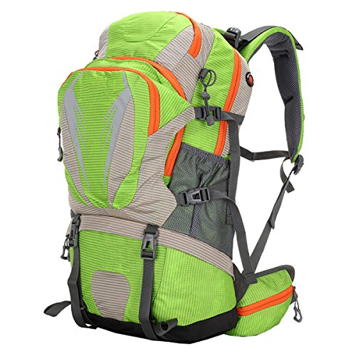 Xin.S50L Borsa Da Montagna Trekking All'aperto Spalle Borsa Da Viaggio Nylon Impermeabile Zaino Multifunzionale A Sospensione. Multicolore Orange