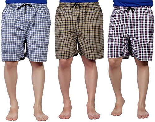SSB Pure Cotton Multicolor Casual Solid Boxers For Men's Pack of 3...