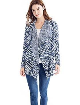 Tkiames Mujeres irregular raya Mantón kimono Cardigan Tops cubre para de abrigo