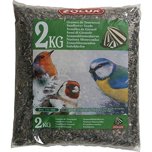 Zolux girasole alimento per uccelli da giardino kg. 2, multicolore, unica