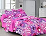Classic Furnishing Plus Classic FP Pink Printed Cotton Double Bedsheet (MGC 01)