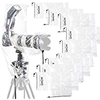 Movo  10 Pack RC2 Clear Rain Cover for DSLR Camera  Flash  and Lens 46...