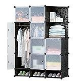 #5: GTC Multi Use Clothes Organizer, Bookcase, Storage Cabinet, Wardrobe Closet 110.5 x 47 x 163.5 CM Cloth Rack ( IT N - STW1014 )