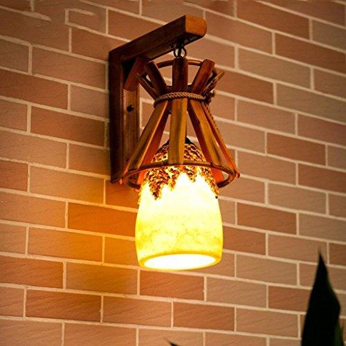 Gorkuor Wandleuchte Wandleuchte, Europäische Garten Terrasse Wandleuchte Kanal Kaffee Bar Bar Harz Licht Bambus Lampe Kreative Lampe Originalität by -