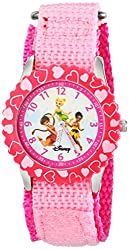Disney Kids W000081 Fairies Stainless Steel Time Teacher Watch