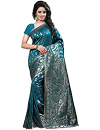 Shree Sanskruti Art Silk with Blouse Piece Saree (Banarasi 1005 rama Green_Free Size)
