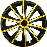 GRAL Gelb/Schwarz - 14 Zoll, passend für fast alle Fiat z.B. für Fiat 500