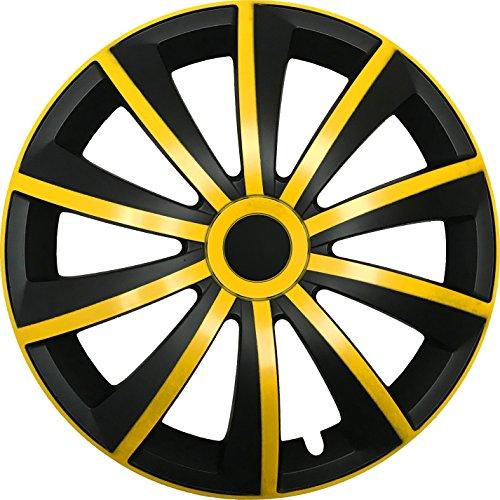 CM DESIGN GRAL Gelb/Schwarz - 14 Zoll, passend für Fast alle Peugeot z.B. für 107