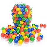 LCP Kids 100 palline colorate plastica 6 cm di diametro per bambini piscine giocattolo e TUV Rheinland by LCP Kids