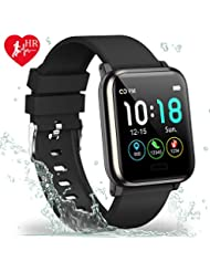 L8star Fitness Trackers, Activity Trackers with Heart Rate Monitor 1.3inches Large Color Screen Step Counter Calorie Counter Sport Fitness Smart Watch Sleep Monitor for Men Women Android IOS