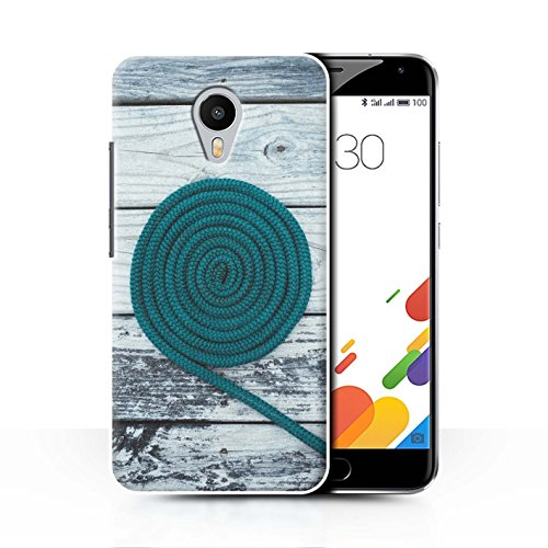Stuff4 Hülle / Case für Meizu M1 Metal (Blue Charm) / Seil/Holz/Deck Muster / Teal Mode Kollektion