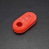 DYBANP Clé de Protection en Silicone pour Voiture protégée pour Alfa Romeo Myth 4C télécommande Mito Giulietta 159 GTO GTA