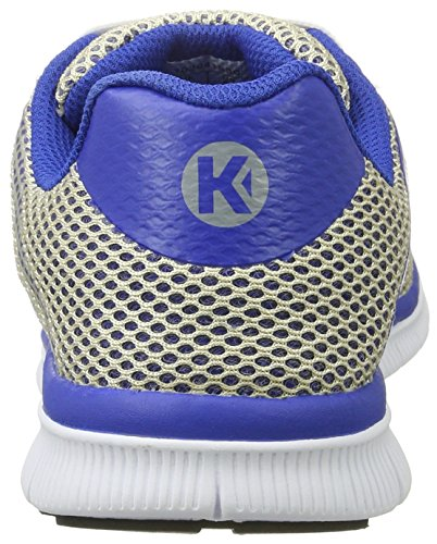 Kempa - K-float, Scarpe da ginnastica Uomo Grigio (Gris Argent/bleu Roi)