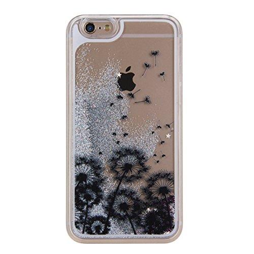 Voguecase® Pour Apple iPhone 4 4G 4S, Argent-sable Luxe Flowing Bling Glitter Sparkles Quicksand et les étoiles Hard Case étui Housse Etui(pissenlit 12/Argent) de Gratuit stylet l'écran aléatoire univ pissenlit 13