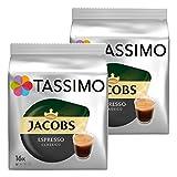 Tassimo Jacobs Espresso Classico, Röstkaffee, Kaffeekapsel, gemahlener Kaffee, 2 x 16 T-Discs