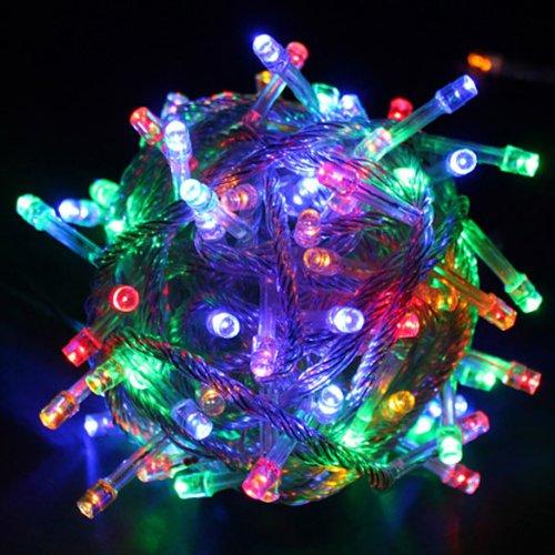 Wildlead 10m LED String Light Strap Lampe Multicolor wasserdicht Garten Dekor 110V AC (Welle Boot Geringe)